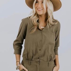 Roolee jumpsuit army green size large